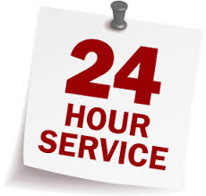 24 hour service post it note pin